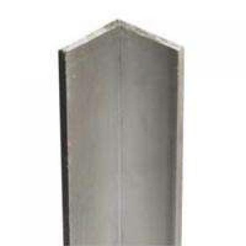 "Equal Leg Angle, 1-1/4"" Leg x 1/8"" T, 4' L, Aluminum, Mill Stanley Hardware Mill"