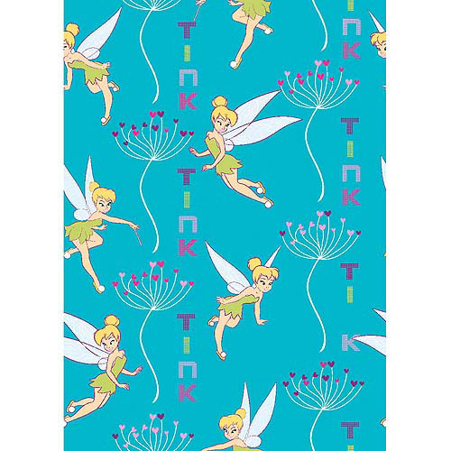 Disney Tink Floral Heart Stripe Fabric By The Yard