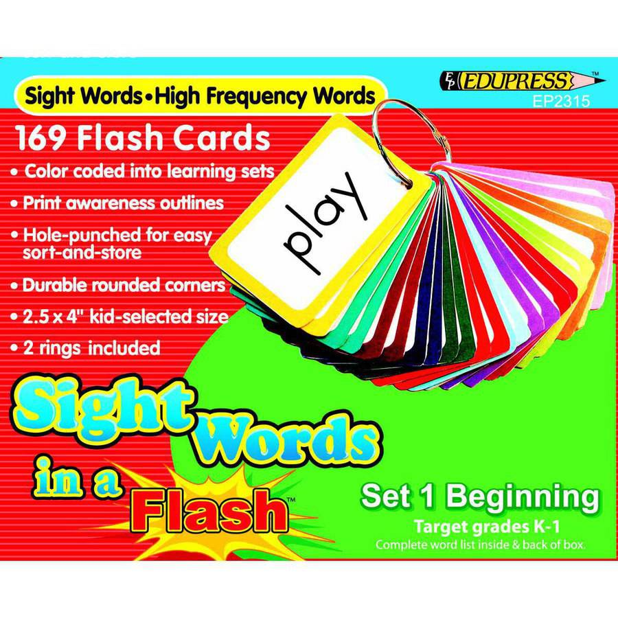 Edupress Sight Words in a Flash, Multiple Grades