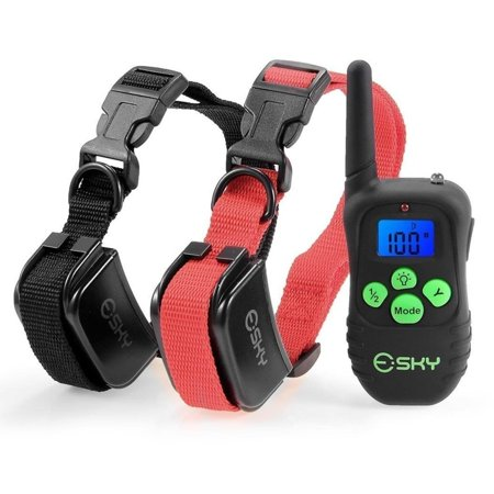 Esky Remote Dog Training Collar LCD Display 100 Level Shock Vibrate