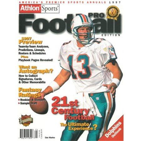 Athlon Ctbl 012491 Dan Marino Unsigned Miami Dolphins Sports 1997 Nfl Pro Football Preview Magazine