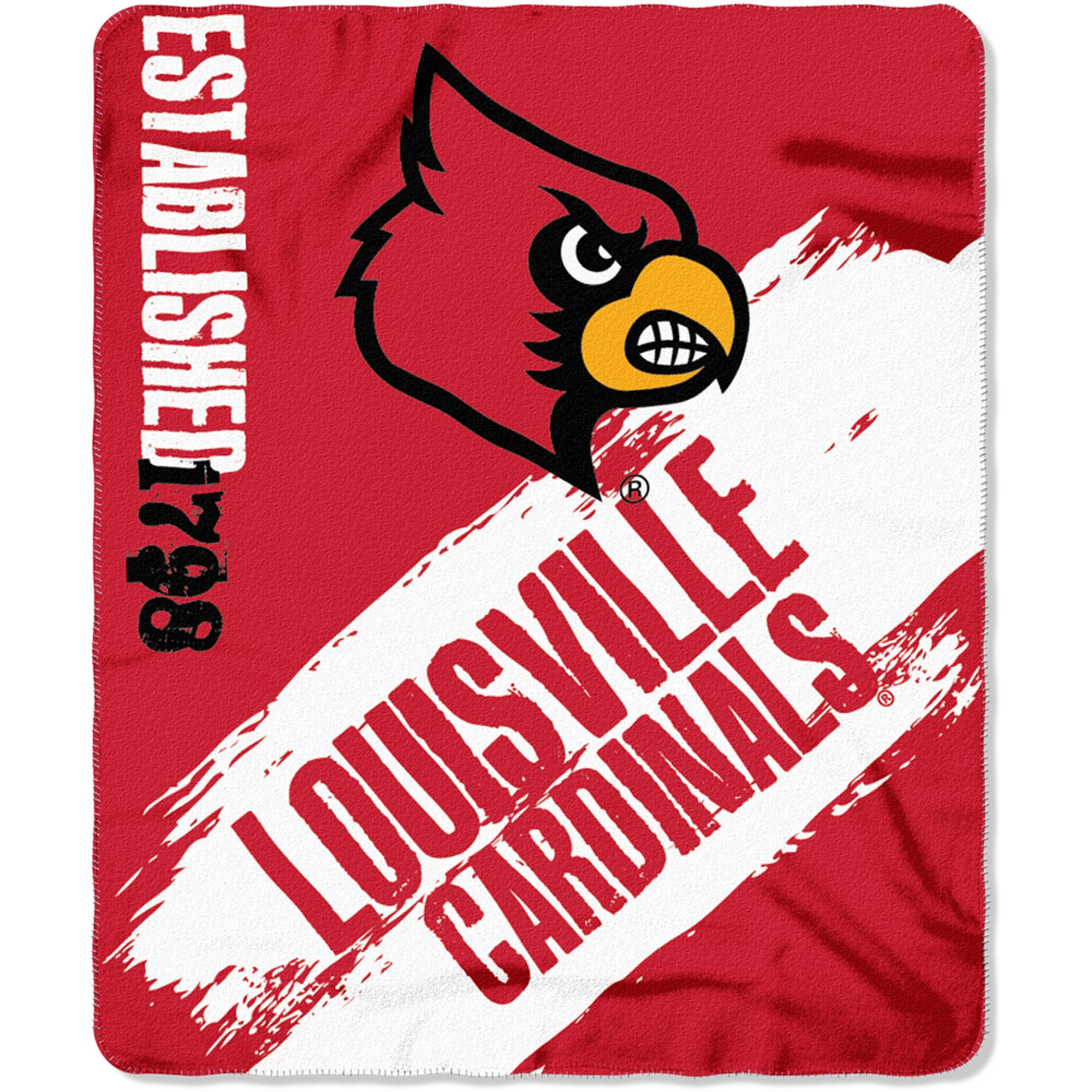 "NCAA Louisville Cardinals 50"" x 60"" Fleece Throw"