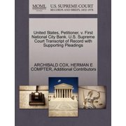 United States, Petitioner, V. First National City Bank. U.S. Supreme Court Transcript of Record with Supporting Pleadings