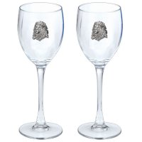 Heritage Pewter East Carolina Pirates Stemless Wine Glass Set of 2