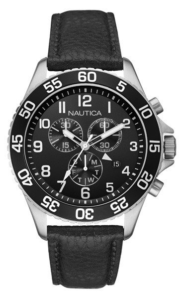 Nautica Leather Mens Watch NAI15505G by Nautica