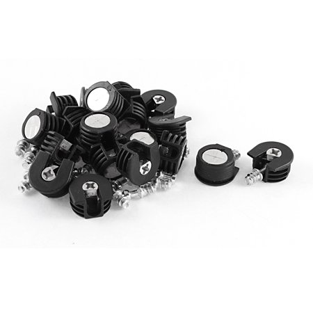 Furniture Two-in-One Screw in Type Bracket Shelf Support Pin Black 20 Pcs - image 1 of 2