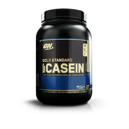 Optimum Nutrition Gold Standard 100% Casein Protein Powder, Cookie Dough, 24g Protein, 2 Lb (Optimum Casein 2 Pound)
