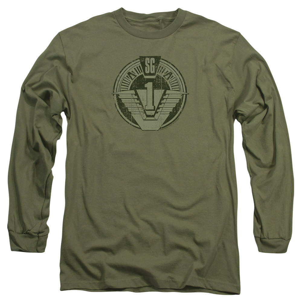 Stargate Sg1 Distressed Mens Long Sleeve Shirt