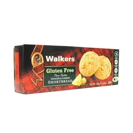 Walkers Gluten Free Lemon Ginger Shortbread Cookie  4 9 Ounce