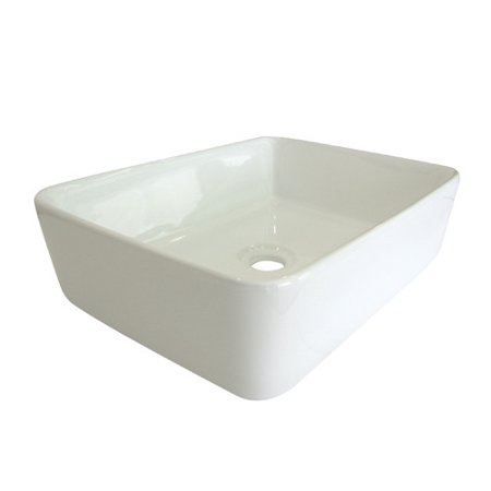 Kingston Brass French Ceramic Rectangular Vessel Bathroom Sink