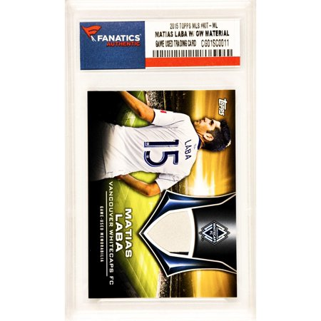 Matias Laba Vancouver Whitecaps FC 2015 Topps MLS #KIT-ML Card Containing a Piece of Player Worn Material- Limited Edition of 25 Pack (Pack Limited Edition)