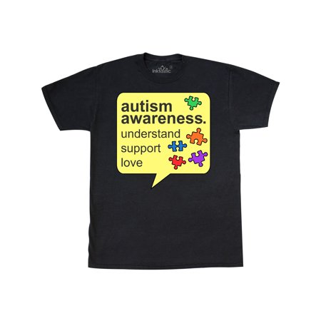 Autism Awareness in Speech Bubble with Puzzle Pieces T-Shirt - Autism Awareness Puzzle Piece