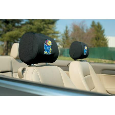 Bsi Products Inc Kansas Jayhawks Headrest Covers Set Of 2 Headrest Covers