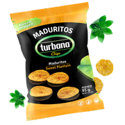 Turbana Sweet Plantain Chips, 7 oz (Pack of 12)