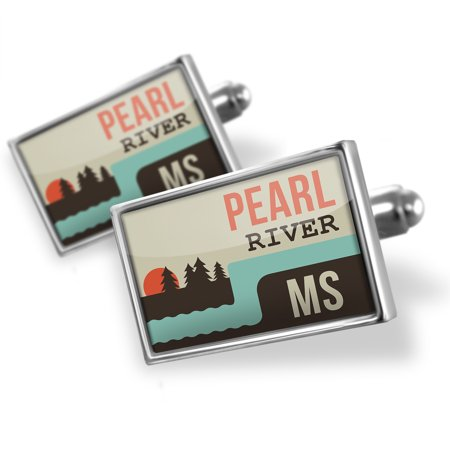 Cufflinks USA Rivers Pearl River - Mississippi - NEONBLOND