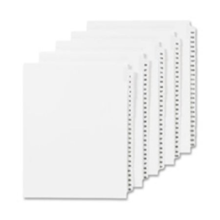 Numeric Legal Tabs - Numeric Divider, 40, Side Tab, 11 in. x 8.5 in., 25-PK, White