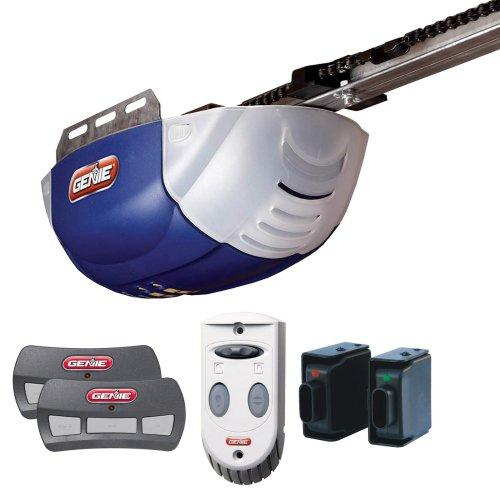 Genie GEN37000RM Genie 2022-T ChainLift 800 1/2+ DC Chain Garage Door Opener with 2 3-Button Remotes Wall Console and Safe-T-Beams
