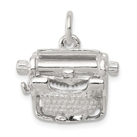 Roy Rose Jewelry Sterling Silver Typewriter Charm