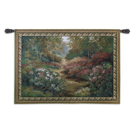 Fine Art Tapestries Along The Garden Path Wall -