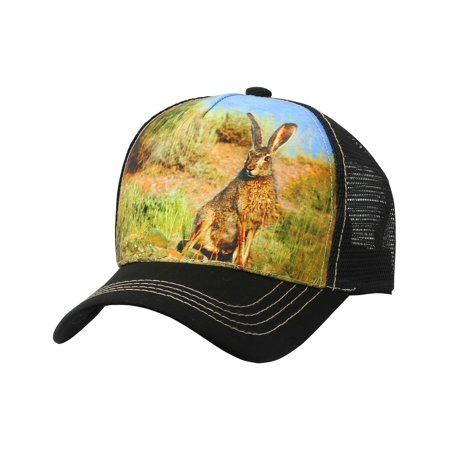 Animal Farm TRUCKER HAT Rabbit Baseball Cap Adjustable Mesh Snapback Casual (AP30_BLACK) - Farm Hats