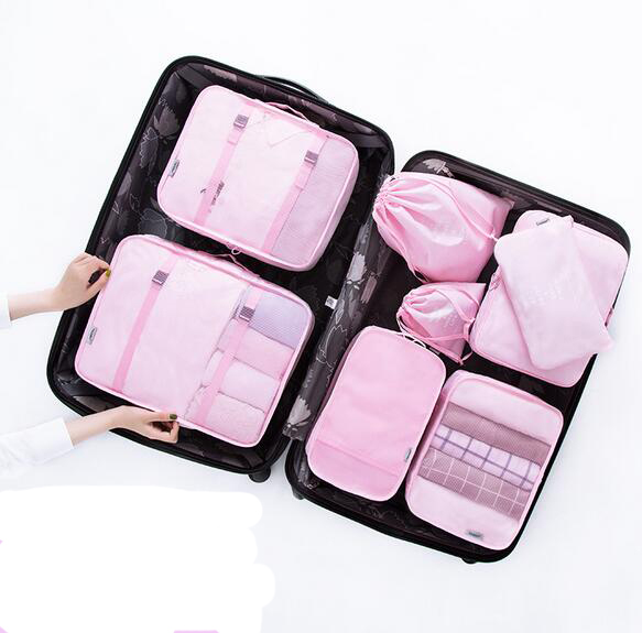 Oak Leaf Travel Packing Organizer Extra Durable Packing Cubes for Luggage,9 Set