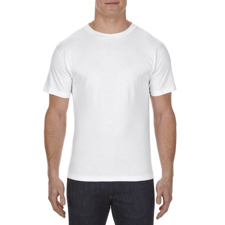 Alstyle AL1301 Adult 6.0 oz., 100% Cotton T-Shirt - White - - Jungle Safari Golf