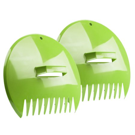 Leaf Scoops Garden Lawn Leaves Grass Hand Rake Scoop Tool 2110BL Green Pair