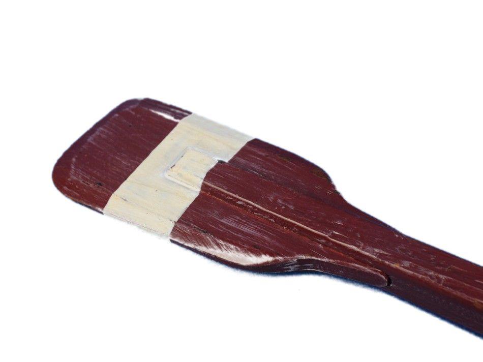 """Wooden Chadwick Squared Rowing Oar w  Hooks 24"""" Beach Bedroom Decor Oar by Handcrafted Nautical Decor"""