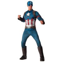 Men's Deluxe Muscle Captain America Costume