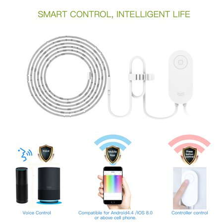 Yeelight WIFI Connected RGB Intelligent Strip Light (ONLY for the Use of extending YLDD04YL Version) 1 Meters AC100-240V 2.1W Supported Smart Phone App Control/ Voice Control/ Setting Modes Selecting/ - image 3 de 7