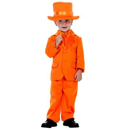 Toddler Orange Tuxedo - Orange Tux