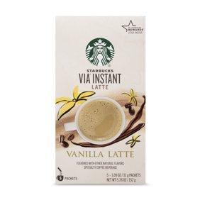 Starbucks Via Instant Coffee Flavored Packets Caffe Mocha Latte 1 Box 5 Packets Walmart Com Walmart Com