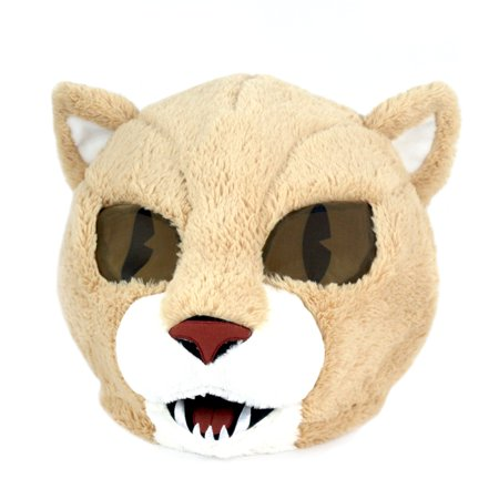 Maskimals Oversized Plush Halloween Mask - Cougar - Halloween Cougar Ears