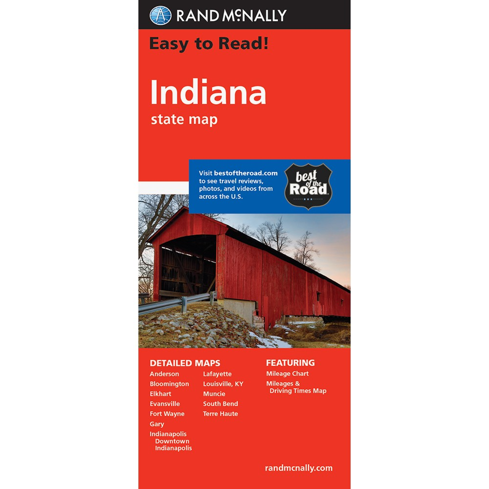 Easy To Read Indiana State Map