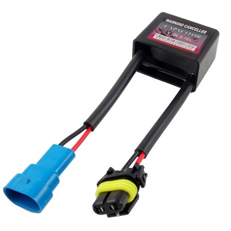 Unique Bargains 9-16V Warning Canceller Capacitor Black for HID Light