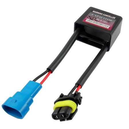 Unique Bargains 9-16V Warning Canceller Capacitor Black for HID Light