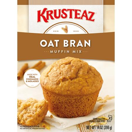 - (2 Pack) Krusteaz Oat Bran Supreme Muffin Mix, 14oz Box