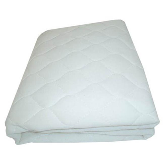 L A BABY 10RGC Waterproof 100% Organic Cotton Mattress Cover- Ecru