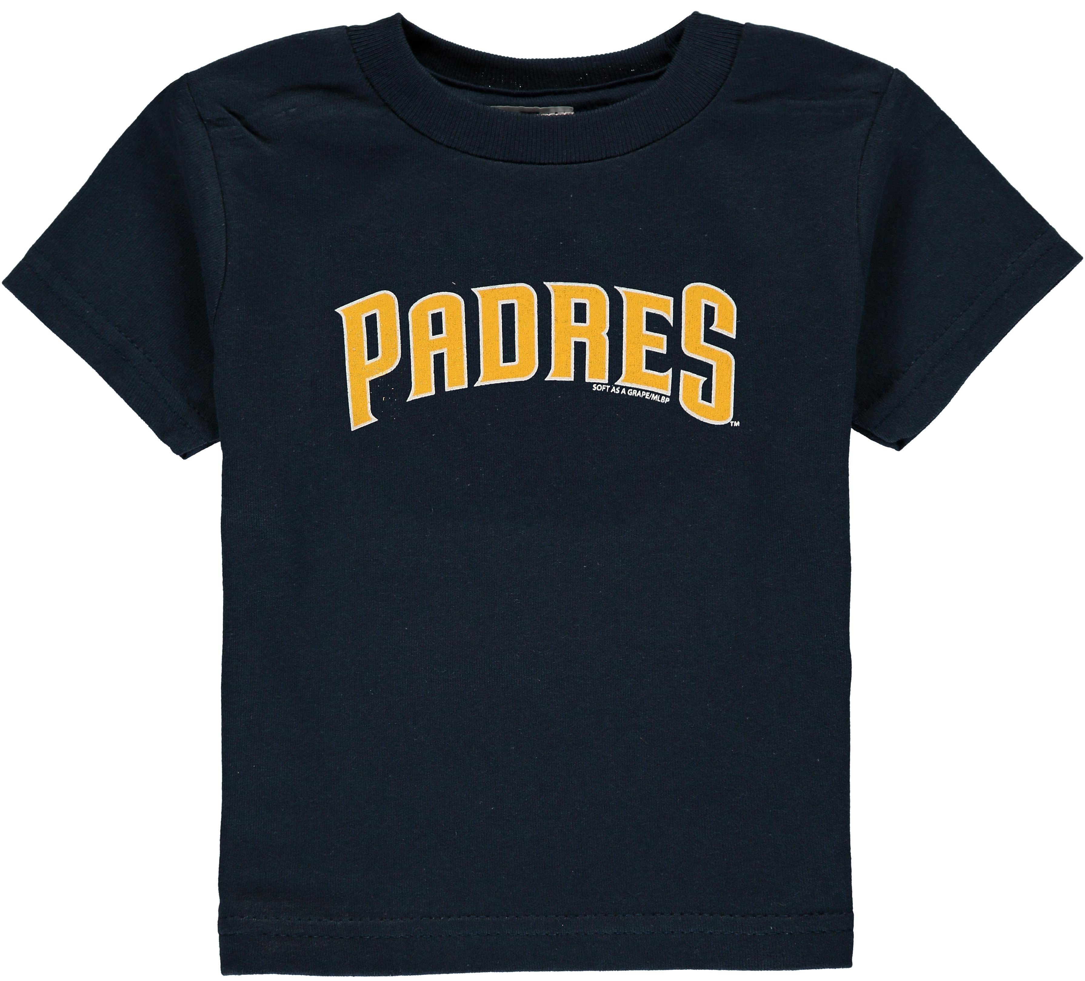 Toddler Soft As A Grape Navy San Diego Padres Tiny Fan Wordmark T-Shirt