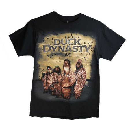 Duck Dynasty Mens Tee Shirt Entire Cast Black Medium](Duck Dynasty Outfits)