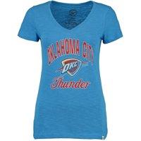 Oklahoma City Thunder '47 Women's Current Day Primary Logo Scrum V-Neck T-Shirt - Blue