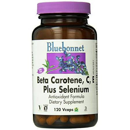 Bluebonnet Beta Carotene  C  E Plus Selenium  120 Ct