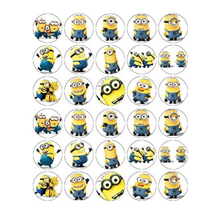 Minions Despicable Me Cupcake Toppers Edible Wafer Paper BUY 2 GET 3RD FREE - Cupcake Minions