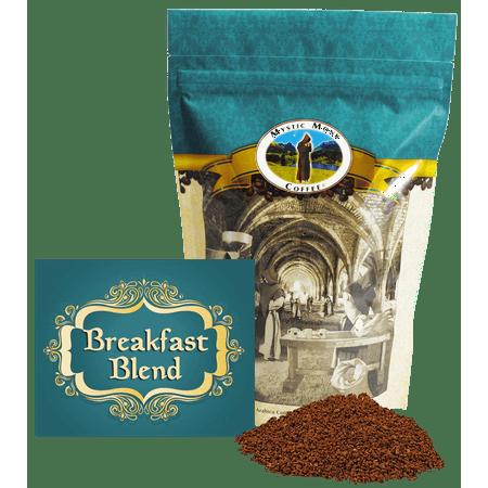 Mystic Monk Coffee - Breakfast Blend - Mild Roast Ground Coffee
