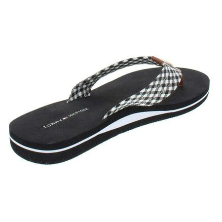 47277a9ffd Tommy Hilfiger Womens Crispi Checkered Thong Flip-Flops - image 1 of 2 ...