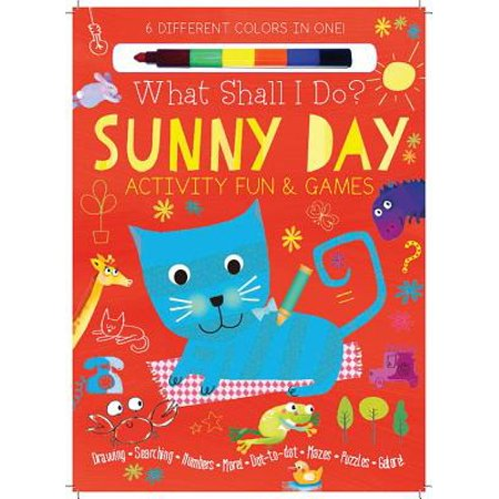 Sunny Day Activity Fun & Games : Drawing, Searching, Numbers, More! Dot to Dot, Mazes, Puzzles - Number Mazes