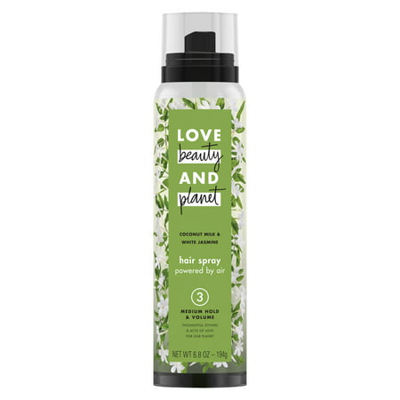 Love Beauty And Planet Medium Hold & Volume Hair Spray Coconut Milk & White Jasmine 6.7 (Best Beauty Supply Hair For Sew In)