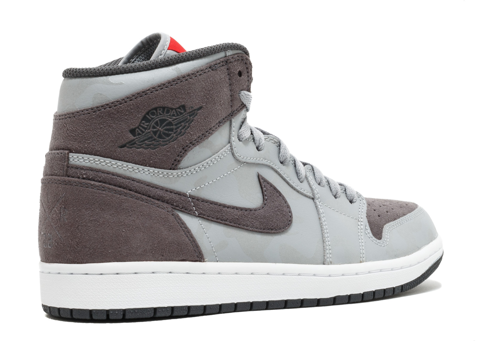 Mens Air Jordan 1 Retro High Premium Grey Camo Wolf Grey Dark Grey Whi