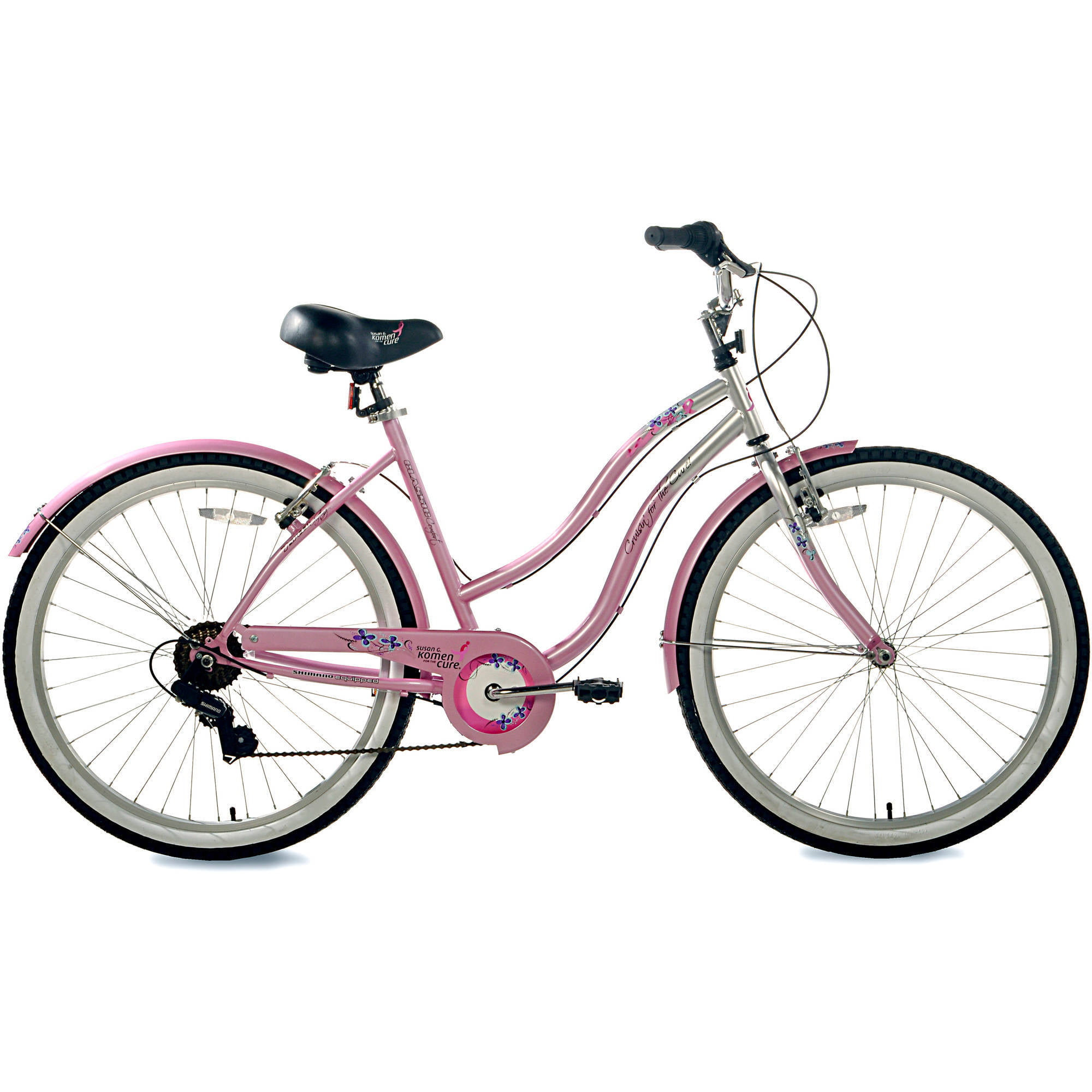 Susan G Komen 26 Womens Multi Speed Cruiser Bike Pink