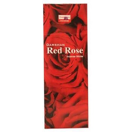 Product Of Darshan, Incense Sticks Red Rose, Count 6 (20Stick) - Air Freshener / Grab Varieties & Flavors